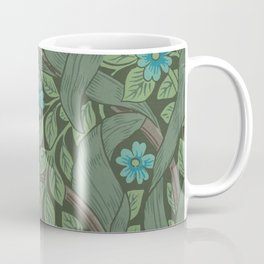 William Morris Art Nouveau Forget Me Not Floral Coffee Mug