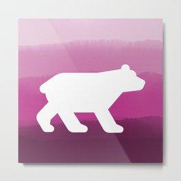 Inverted Pink Bear - Wildlife Series Metal Print