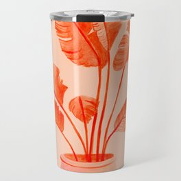 Coral Banana Plant Travel Mug