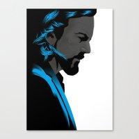 eddie vedder Canvas Prints featuring Eddie Vedder portrait poster by Rafal Topolski