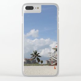 South Beach Miami Lifeguard Station Clear iPhone Case