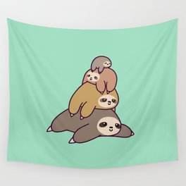Sloth Stack Wall Tapestry