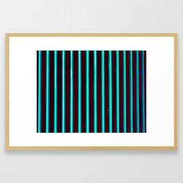 Fluorescent world Framed Art Print