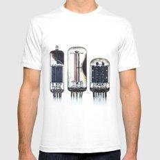 Vintage  Vacuum Tubes Mens Fitted Tee MEDIUM White