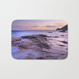 Purple Sunset At Vela Blanca Tower Bath Mat