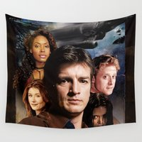 firefly Wall Tapestries featuring Firefly by SB Art Productions