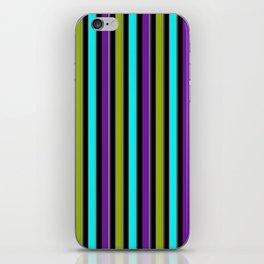 VERTICAL Retro Candy Stripe iPhone Skin