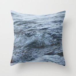 Stormy shore Throw Pillow