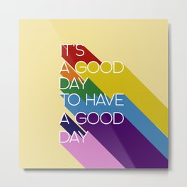 It's a good day - yellow Metal Print