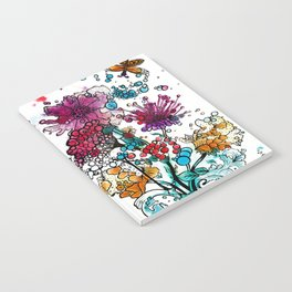 Floral watercolor abstraction Notebook