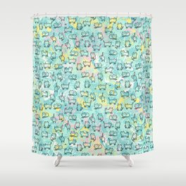 Marble Kitty Cats Shower Curtain
