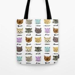 Kitty Language Tote Bag