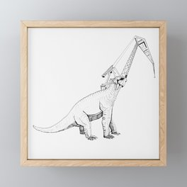 Dinosaur Crane Framed Mini Art Print