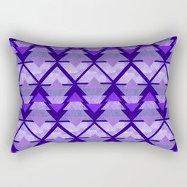 Geometric Forest on Purple Rectangular Pillow