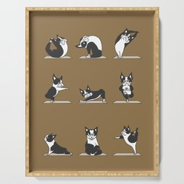 Boston Terriers Yoga Serving Tray