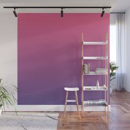 Bright Pink Ultra Violet Gradient | Pantone Color of the year 2018 Wall Mural