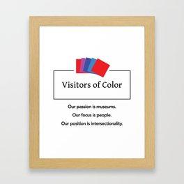 Visitors of Color Framed Art Print
