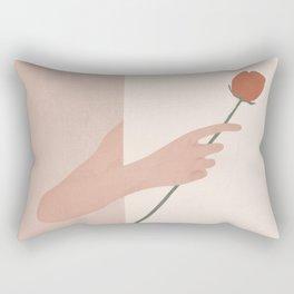 One Rose Flower Rectangular Pillow