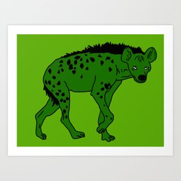 The aberrant hyena Art Print