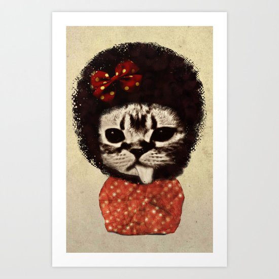 Cat (Pack-a-cat) Art Print