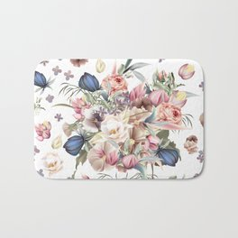Spring mood illustration with roses Bath Mat