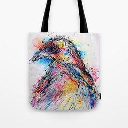 Drip Crow Tote Bag