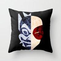 zuko Throw Pillows featuring Blue Spirit by sambeawesome