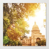 austin Canvas Prints featuring austin by franckreporter