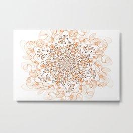 Fractal with flow Metal Print