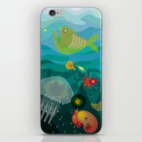 mermaids iPhone & iPod Skins featuring Mermaids by Caroline Krzykowiak