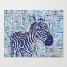 Zoe the Zebra Canvas Print
