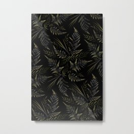Fern leaves - Black Metal Print
