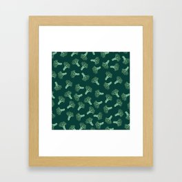 Broccoli color Framed Art Print