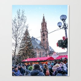 Christmas time in Bozen, Italy Canvas Print
