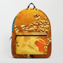 Glitter Gold Fairy Dust With Splash Of Blue Abstract Backpack