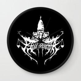 Philadelphia Black Metal Logo Wall Clock