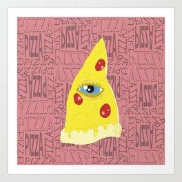 Pizzailluminati Art Print