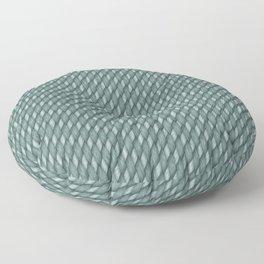 Deep Aqua Blue Cross Weave Texture Floor Pillow
