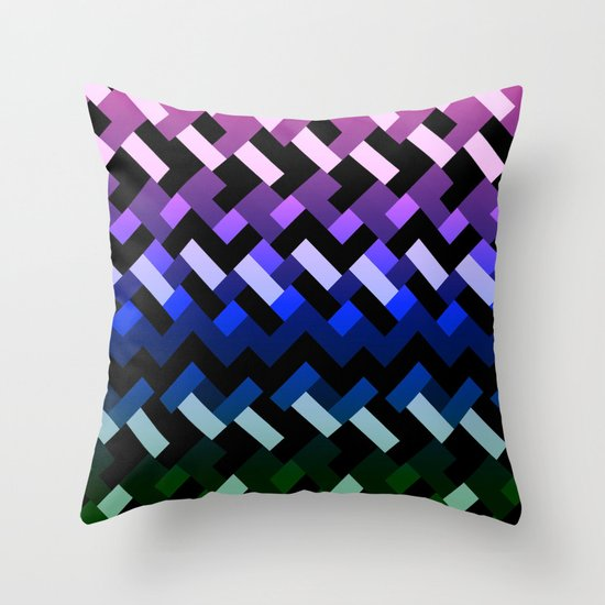 Blue Geometric Throw Pillows : Blue Geometric Throw Pillow by Samantha Lynn Society6