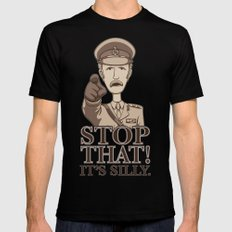 Stop That! MEDIUM Black Mens Fitted Tee