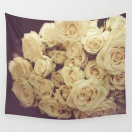 White Roses Wall Tapestry