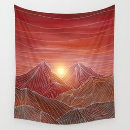 Lines in the mountains VI Wall Tapestry