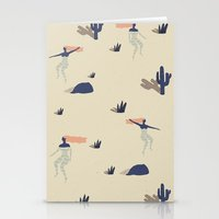 swim Stationery Cards featuring Dezert swim by .eg.