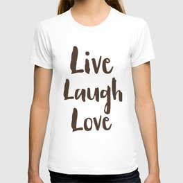 Live Laugh Love vintage brushstrokes T-shirt