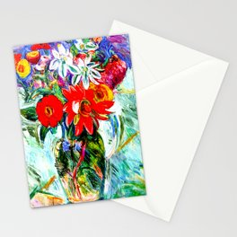 Flowers by Abraham Manievich - Vintage Painting Stationery Cards