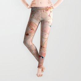 Peachy Marble (foor) Leggings