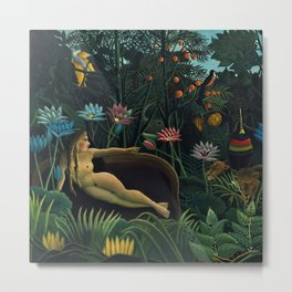 Rêve exotique 'The Dream' by Henri Rousseau Metal Print
