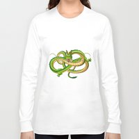 dragon ball Long Sleeve T-shirts featuring Shenron Dragon ball by OverClocked