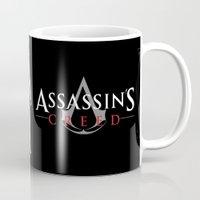 assassins creed Mugs featuring Assassins by Pixel Design