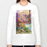 zen Long Sleeve T-shirts featuring Zen by Kat Miles